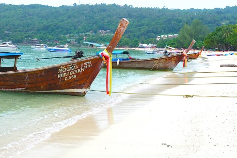 longtail boats - 2 - phi phi